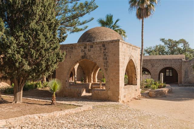 Medieval stone gazebo