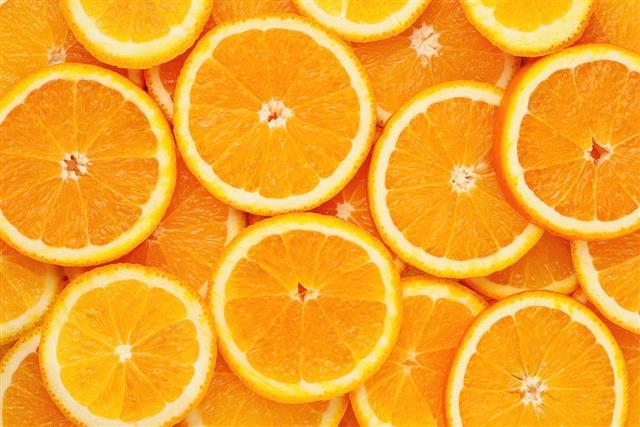 Healthy food background. Orange
