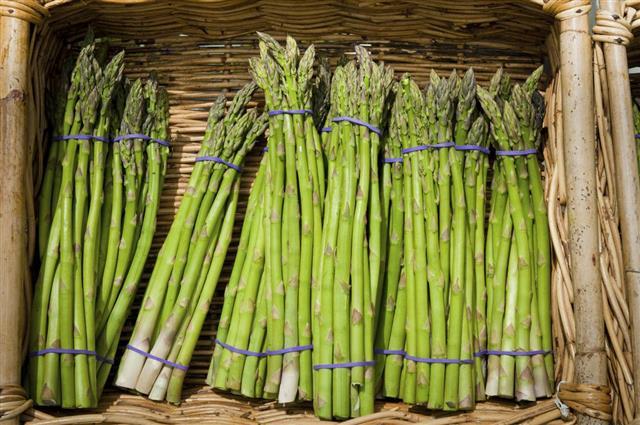 Asparagus in a basket