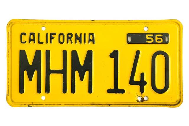 California Number Plate