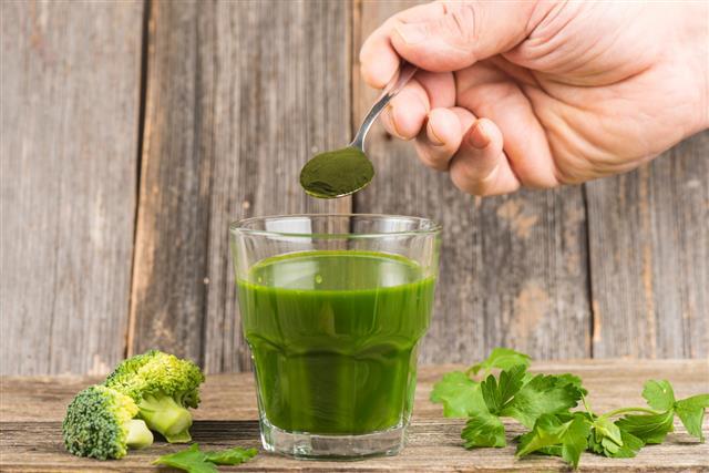Green juice with chlorella