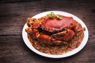 Chilli crab asia cuisine
