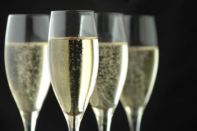 Champagne Flutes on Black