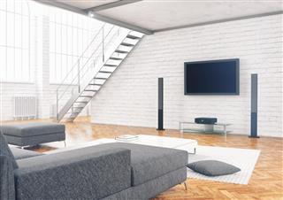 Contemporary Loft Living Room Interior
