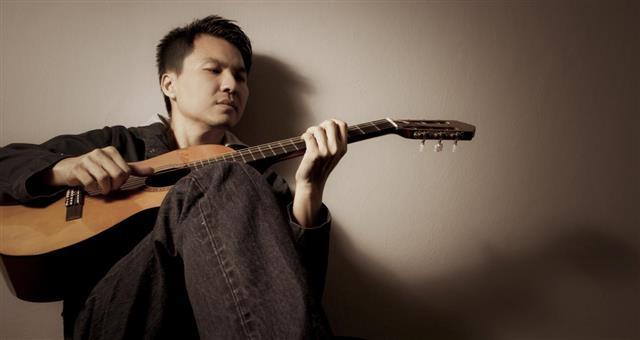 Musician plays Acoustic Guitar