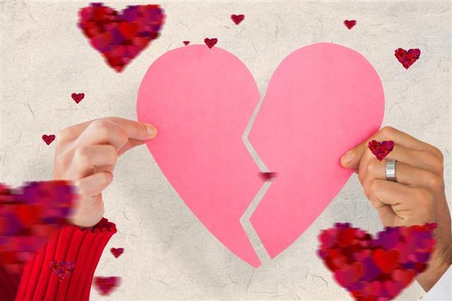 Composite image of mature valentines couple