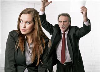 Senior manager angry at his secretary