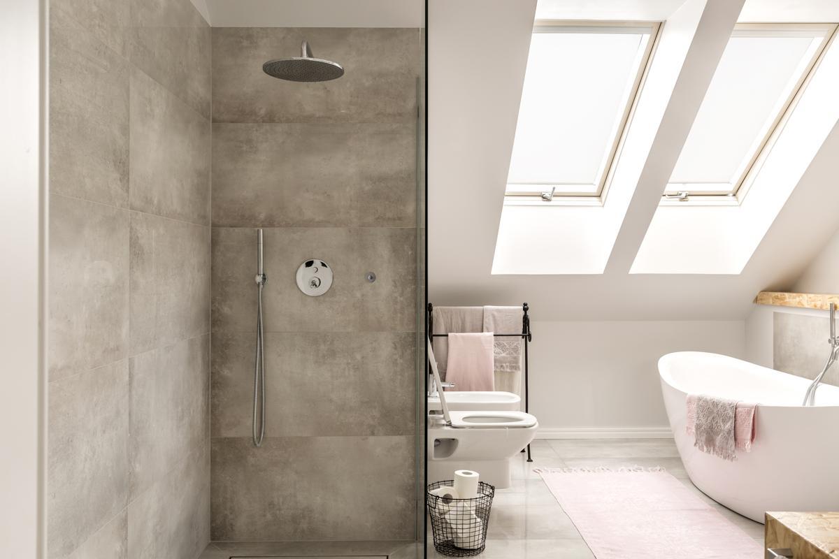 Concrete Shower In Bathroom