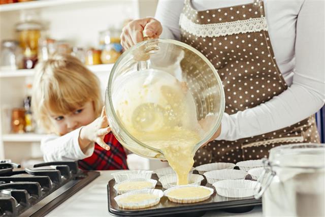 Preparing Homemade Muffins