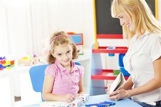 Child Having Speech Therapy