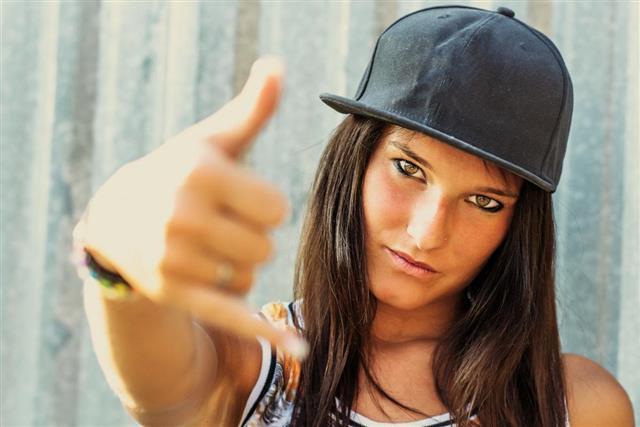 Hip hop rap girl