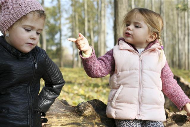 Children having an argument