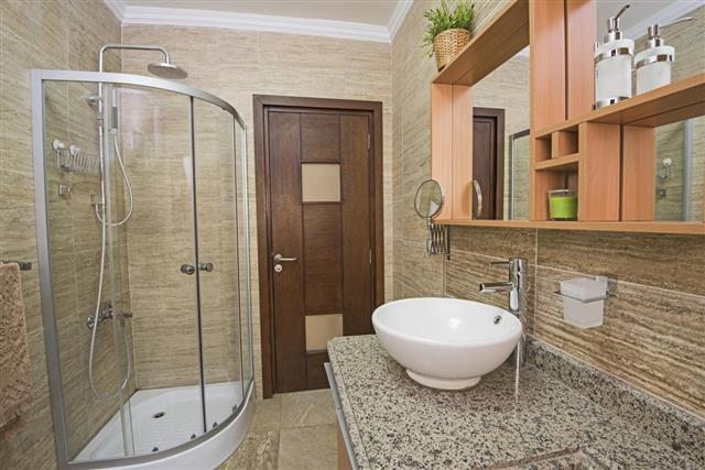Interior of a luxury show home bathroom