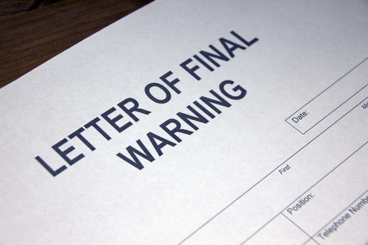 Warning letter template spiritdancerdesigns Images