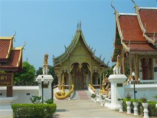 Thai Temple Near Chiang Rai