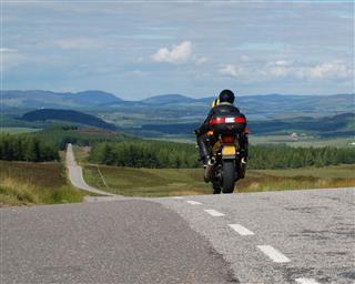 Lone Motorbike Riding