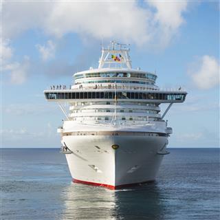 Cruise Ship And Calm Sea