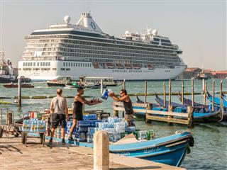 Cruise Ship Passes Through St Marks Bay