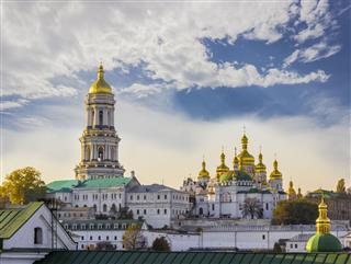 Kiev Pechersk Lavra Against Sky