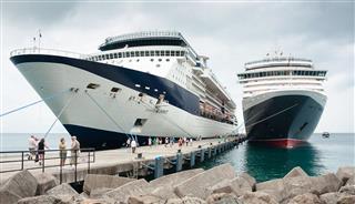 Cruise Ships Docked At Port