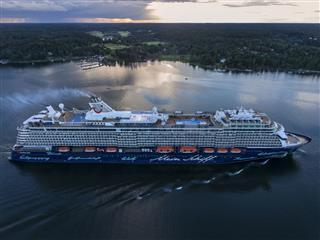 Mein Schiff Cruise Ship Aerial