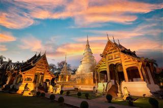 Wat Phra Singh Temple In Chiang