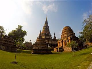 Pagodas In Ayutthaya Thailand