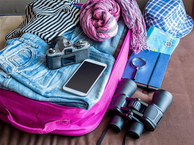 Summer Holiday Luggage Stuff