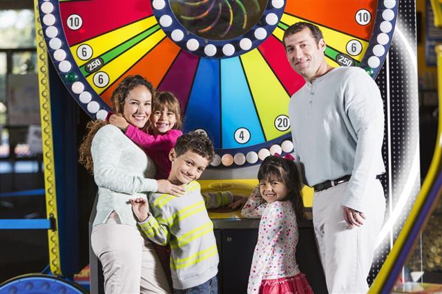 Family At An Amusement Arcade