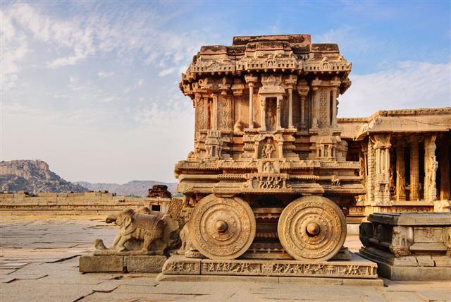 Stone Chariot In Hampi Vittala Temple