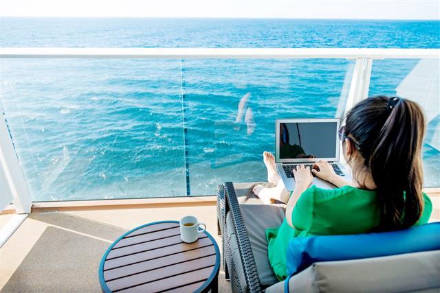Woman Working On Cruise Ship