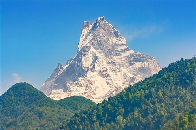 Machapuchare Peak In Annapurna Massif