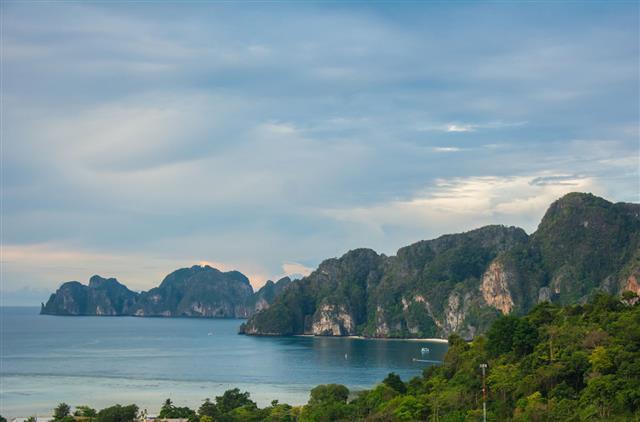 Phi Phi Andaman Sea Shore View