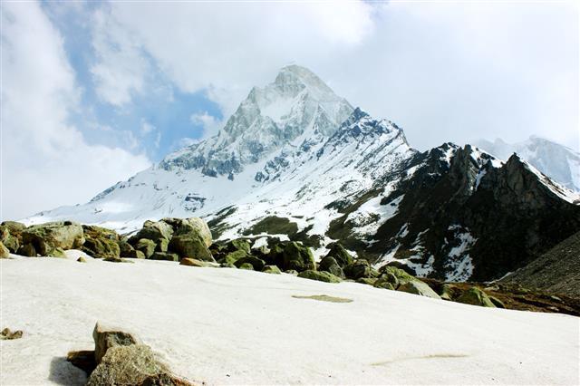 Shivling Mountain Peak In Himalaya