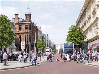 Busy Belfast Street
