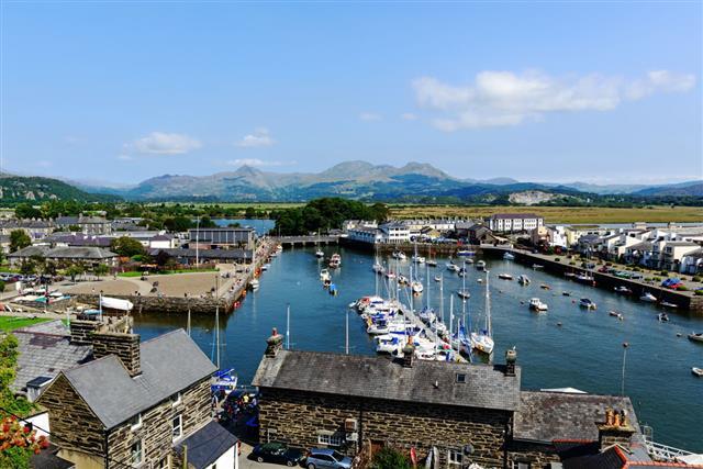 Harbour At Porthmadog Gwynedd Wales