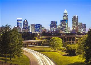Downtown Charlotte North Carolina At Night