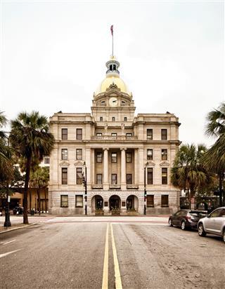 Savannah Georgia Usa City Hall