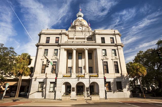 Downtown City Hall Savannah Georgia