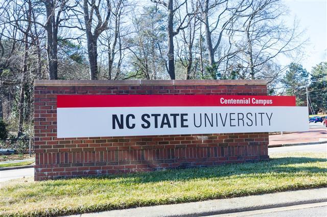 Entrance Sign At Ncsu