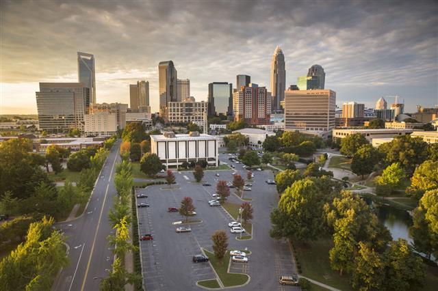 City Skyline Of Charlotte