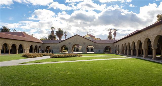 Memorial Court Of Stanford University Campus