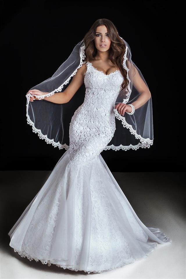 Beautiful Bride Posing In Studio
