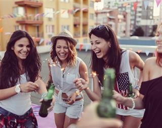 Girls With Beer Bottles