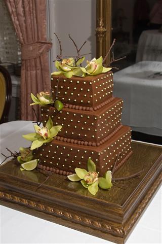 Grooms Wedding Cake
