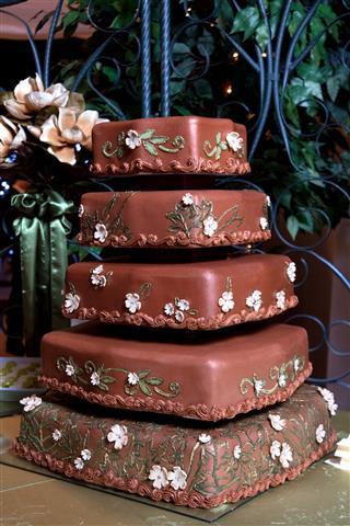 Brown Chocolate Wedding Cake