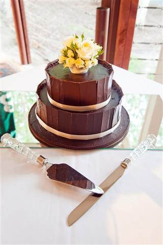 Chocolate Layered Wedding Cake