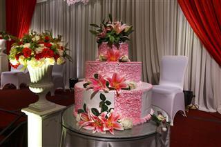 Multi Tiered Wedding Cake Decorated
