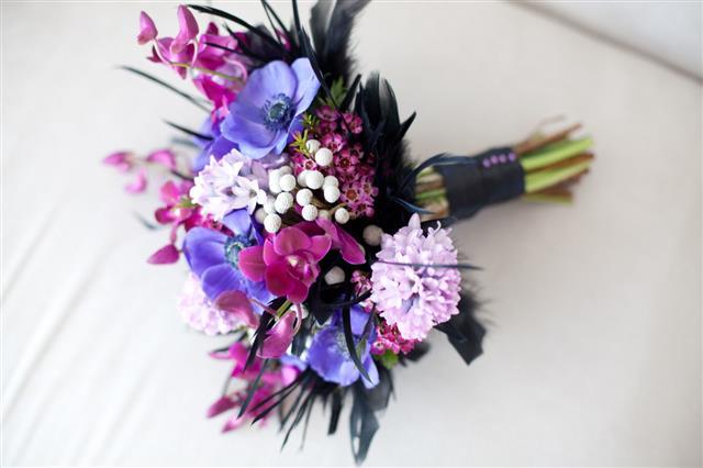 Purple And Fuschia Wedding Bouquet