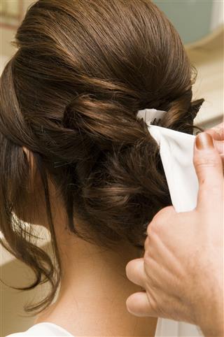 Bridal Hair Style At Salon
